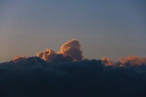 Wolken boven Auckland