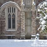 Een vroege sneeuwpop